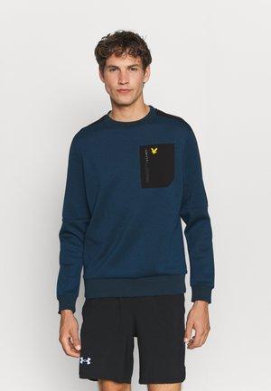 OVERLAY CREW WITH CHEST POCKET - Sweatshirt - aegean blue