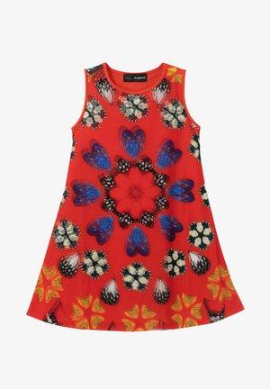 Jumper dress - red