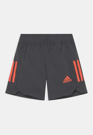 UNISEX - Sports shorts - mottled dark grey/orange