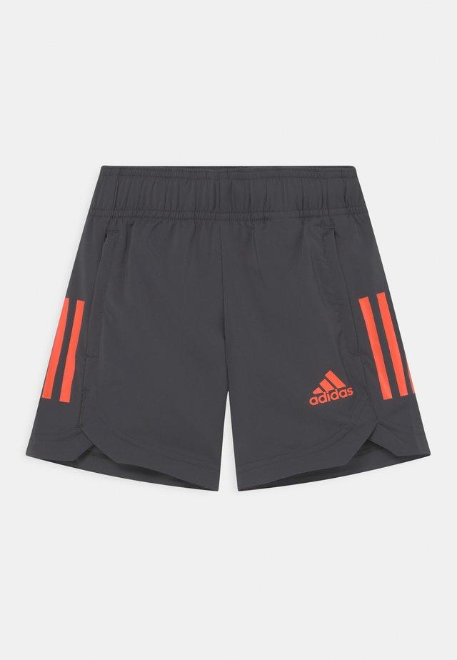 UNISEX - Pantaloncini sportivi - mottled dark grey/orange