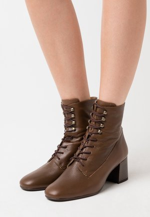 LEATHER - Lace-up ankle boots - brown