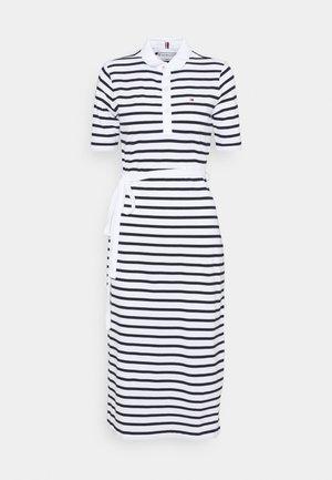 BRETON REGULAR MIDI DRESS - Day dress - classic breton/white/desert sky