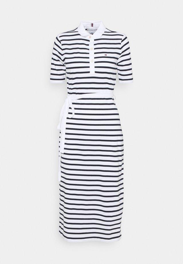 BRETON REGULAR MIDI DRESS - Denní šaty - classic breton/white/desert sky