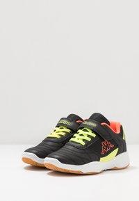 Kappa - DROUM II UNISEX - Sports shoes - black/coral - 3