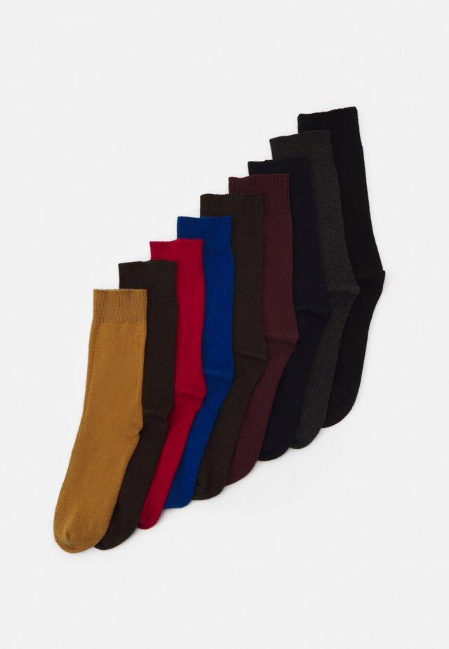 UNISEX 9 PACK - Chaussettes - dijon
