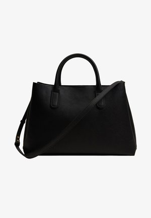 SHOPPER MET HANDVAT - Bolso shopping - zwart