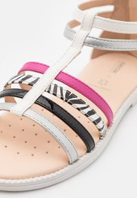 Geox - KARLY GIRL - Sandals - white/silver/black - 5