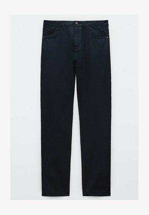 MIT KONTRASTEN  - Slim fit jeans - blue black denim