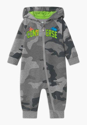 HOODED CAMO - Mono - grey heather