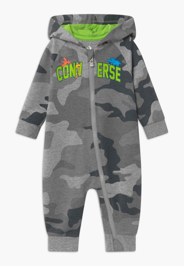 HOODED CAMO - Kombinezon - grey heather