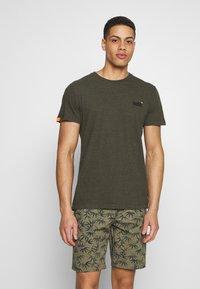 Superdry - VINTAGE CREW - Basic T-shirt - desert olive/space dye - 0