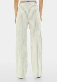 Bershka - Trousers - off-white - 2