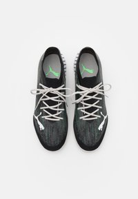 Puma - ULTRA 1.2 PRO COURT - Indoor football boots - black/glacier gray/elektro green/elektro pool - 3