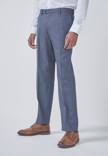 Suit trousers - mottled blue