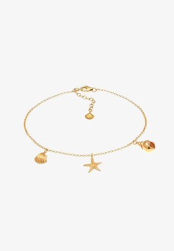 ANKLET SHELL STARFISH - Pulsera - gold