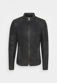 Tigha - TOMAS STONE - Leather jacket - vintage black - 4