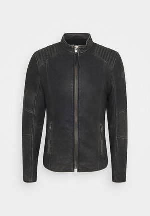 TOMAS STONE - Leather jacket - vintage black