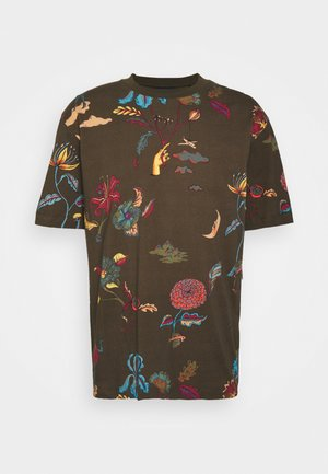 PRINTED RELAXED FIT  - Print T-shirt - olive/multi coloured