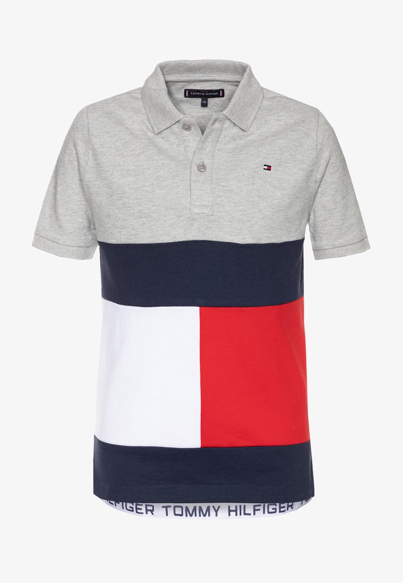 Tommy Hilfiger - COLORBLOCK FLAG - Polo shirt - grey