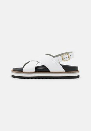 ANDREA - Platform sandals - white