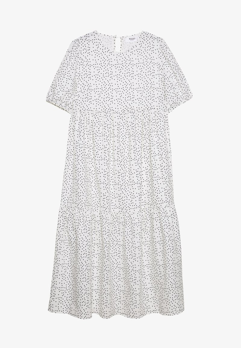 Missguided Maternity - SHORT SLEEVE POLKA DOT SMOCK DRESS - Sukienka letnia - white