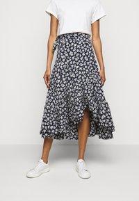 Polo Ralph Lauren - Zavinovací sukně - navy/cream - 0