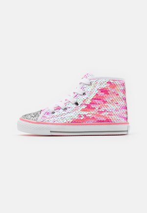 High-top trainers - fuxia