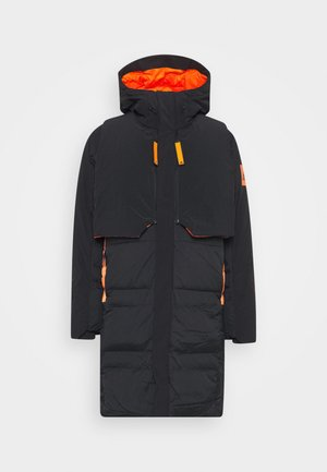 MYSHELTER URBAN COLD RDY OUTDOOR JACKET - Bunda z prachového peří - black/orange