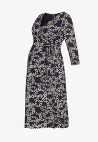 GLORIANNE DRESS - Jersey dress - navy chain