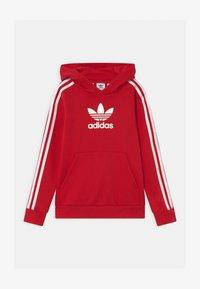 adidas Originals - HOODIE UNISEX - Felpa - scarle/white - 0