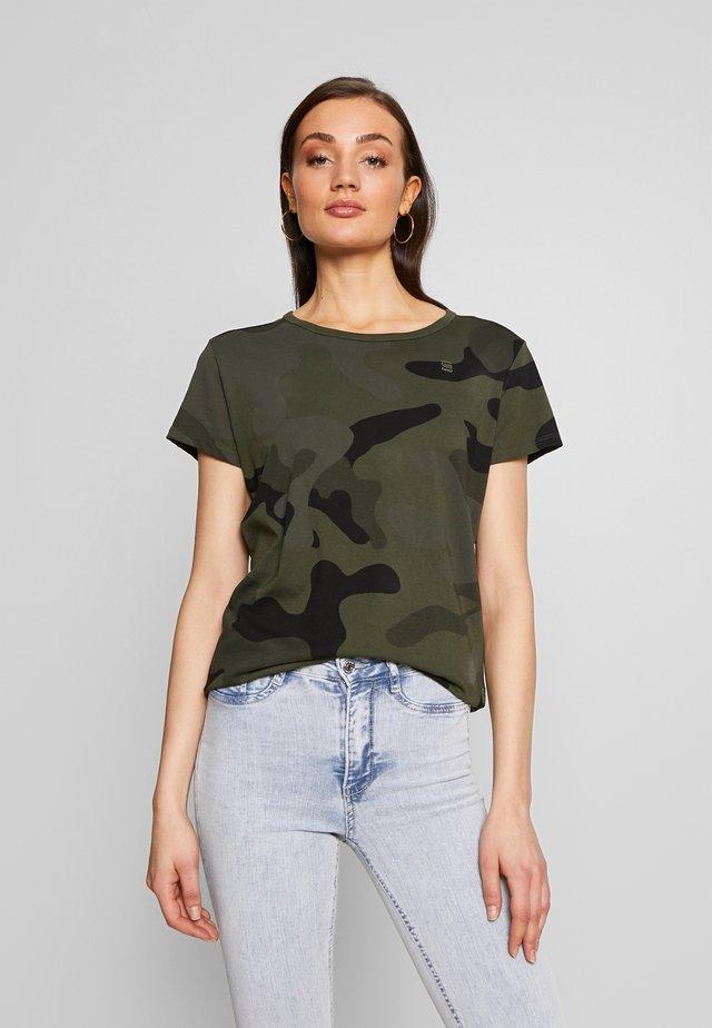 ALLOVER TOP - T-Shirt print - green