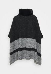 Marks & Spencer London - COLLAR DESIG - Poncho - black - 1
