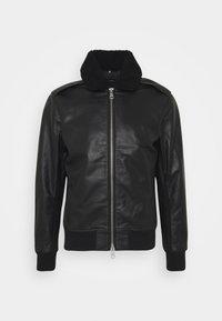 TARREL JACKET - Leather jacket - black