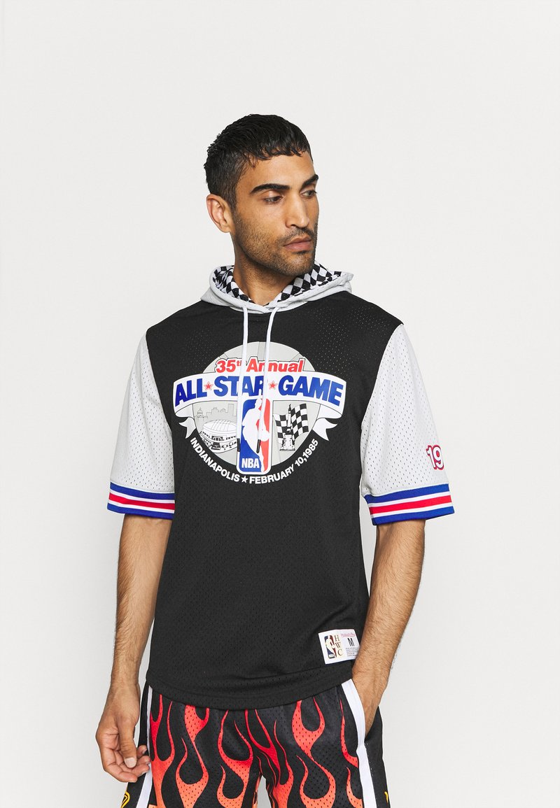Mitchell & Ness - NBA ALL STAR FASHION HOODY - Print T-shirt - black/silver