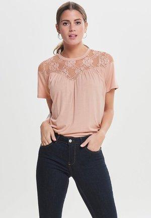 onlNEWMOSTER  S/S TOP JRS - Print T-shirt - rose