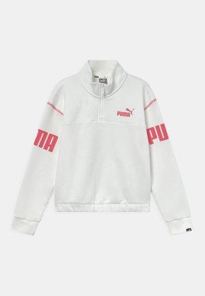 POWER HALF ZIP CREW UNISEX - Sweater - puma white