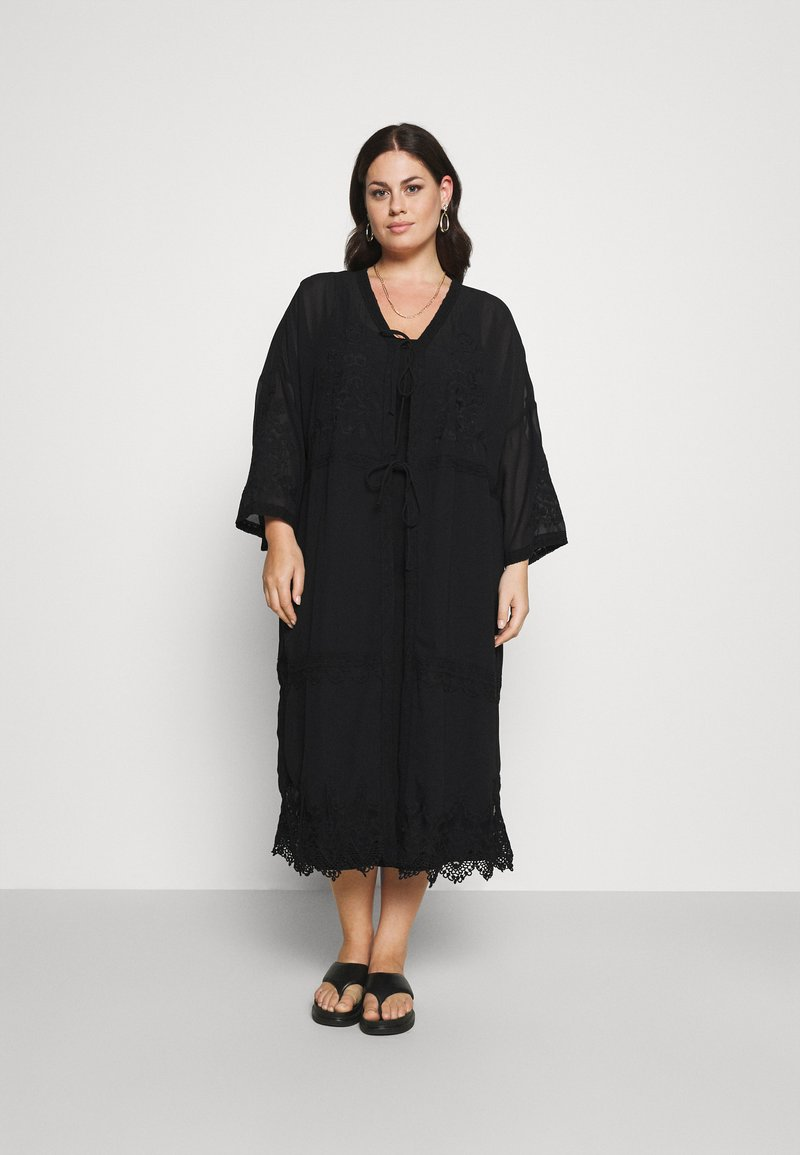 Zizzi - MAUNDREY 3/4 - Summer jacket - black