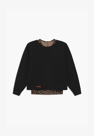 GIRLS BOXY LEO 2-IN-1 - Sweater - schwarz