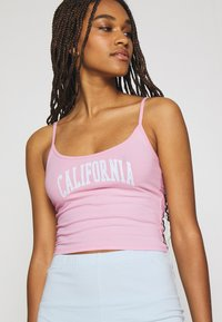 Hollister Co. - BABY CAMI TRIFECTA - Top - neon pink - 4