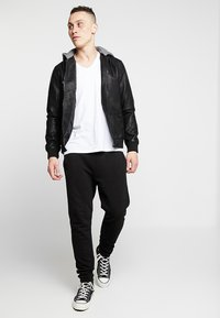 YOURTURN - Faux leather jacket - black - 1