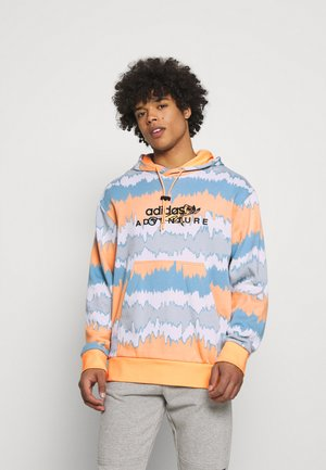 HOODY UNISEX - Collegepaita - hazy orange/multicolor