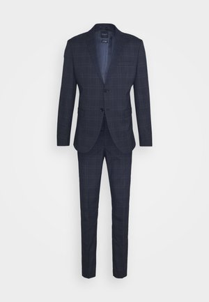 MYLOLOGAN SUIT - Completo - navy blazer/brown