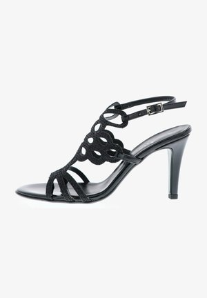 GLITZEROPTIK - High heeled sandals - schwarz