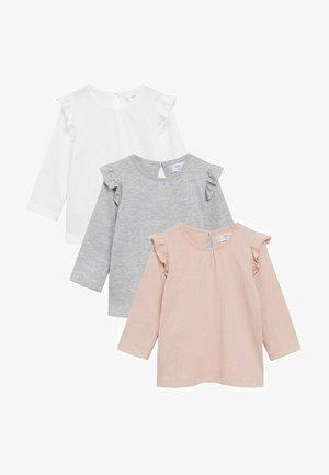 3 PACK - Long sleeved top - rose