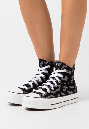 CHUCK TAYLOR ALL STAR LIFT - Zapatillas altas - black/grey/white
