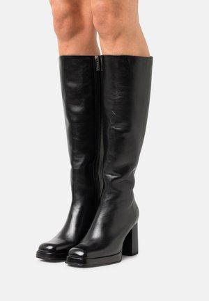 NEW MELANIE - Platform boots - black