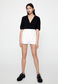PULL&BEAR - Button-down blouse - black - 1