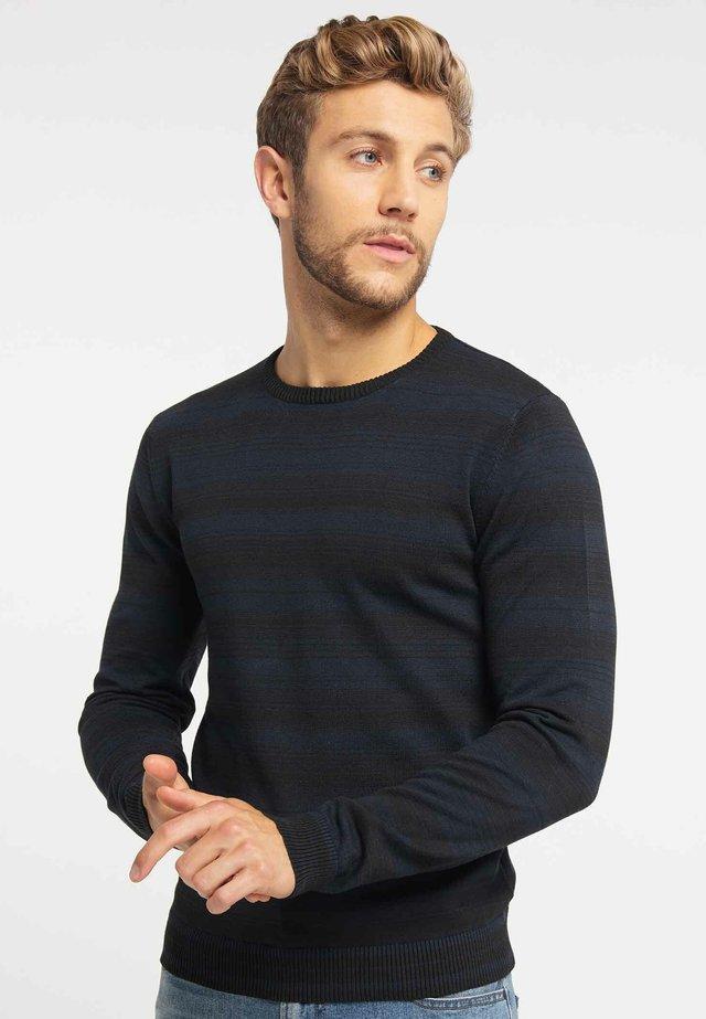 Stickad tröja - black/navy