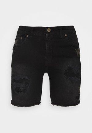 REY  - Jeansshorts - black