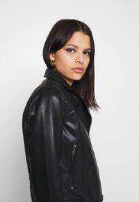 Pepe Jeans - FLORES - Faux leather jacket - black - 3